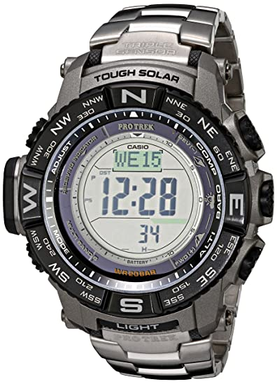 Casio Triple Sensor Protrek Watch with Titanium Band  Casio  Amazon.ca   Watches 853d1a061b87