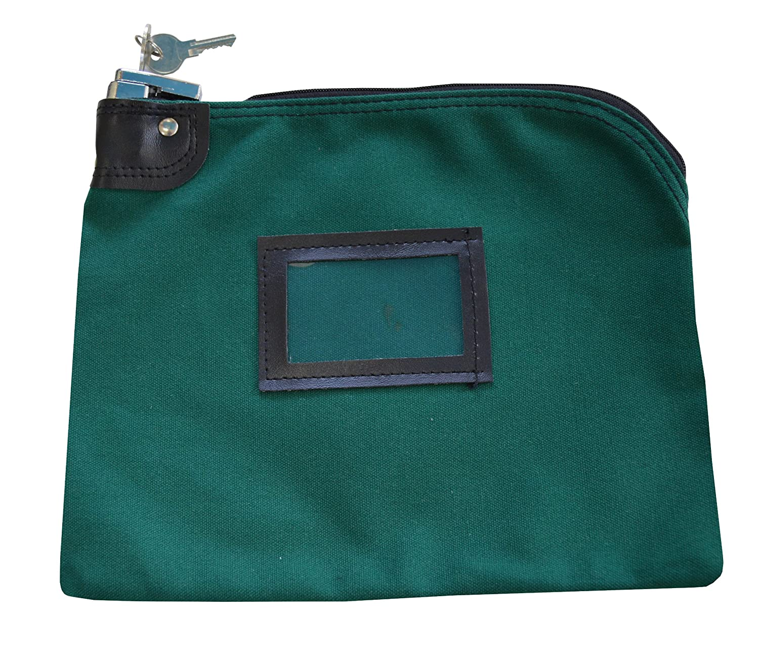 Locking Bank Bag Canvas Keyed Security Forest Green Cardinal Bag Supplies 76161232