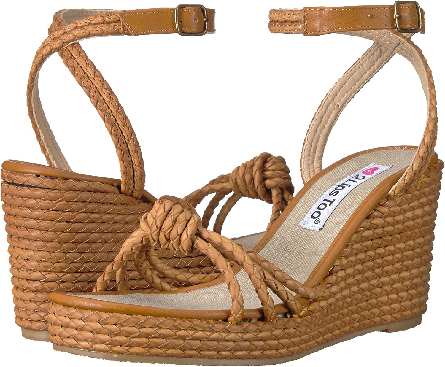 2 Lips Too Womens Too Wendy Wedge Sandal