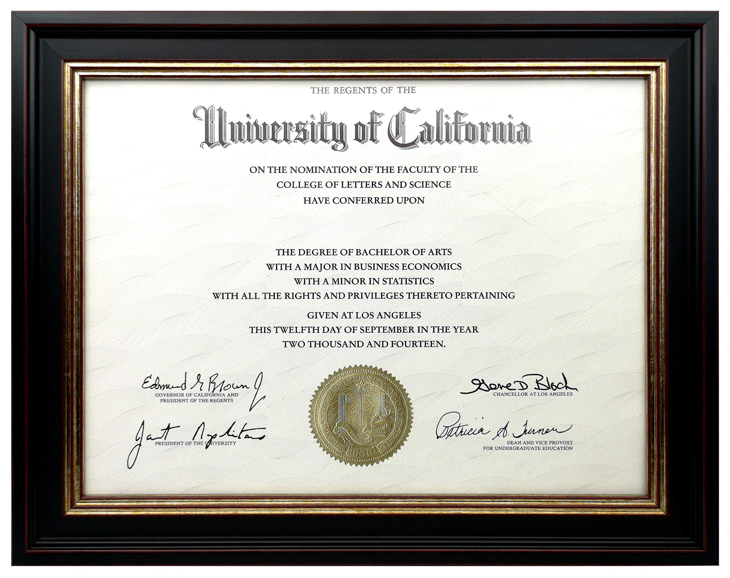 Onuri Inc - Luxurious Document Frame (2-Pack) - Classic 8.5x11 Picture Frame for Diploma Documents and Certificates by Onuri Inc. (Image #2)