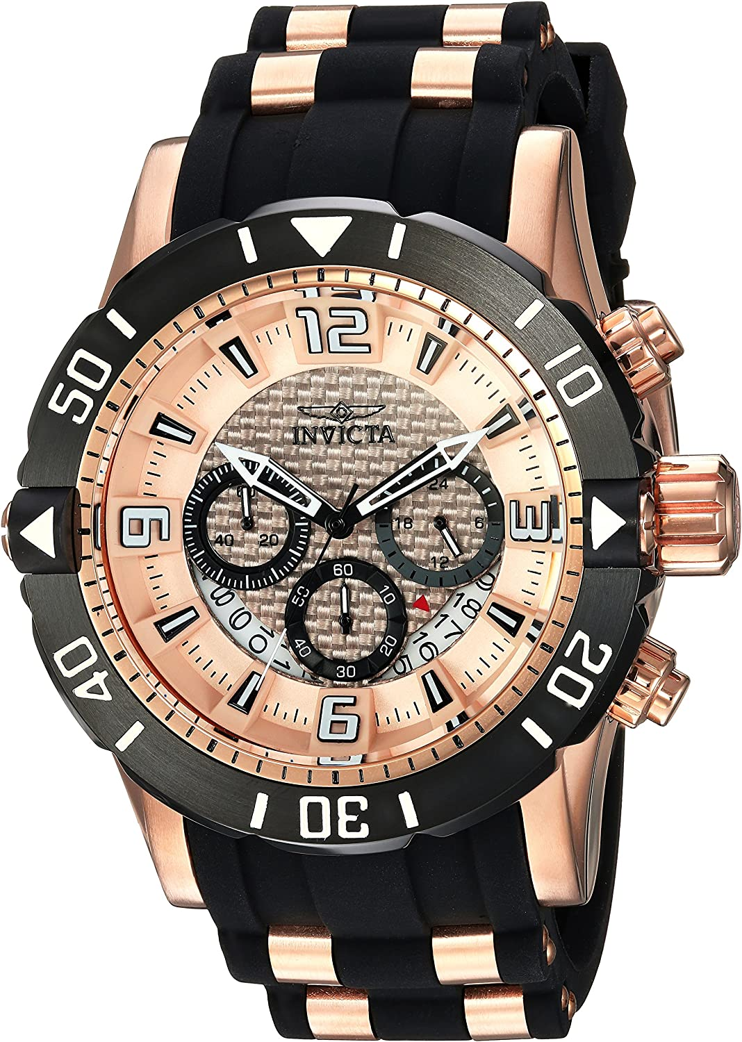 Invicta Men s Pro Diver Quartz Stainless Steel and Polyurethane Diving Watch