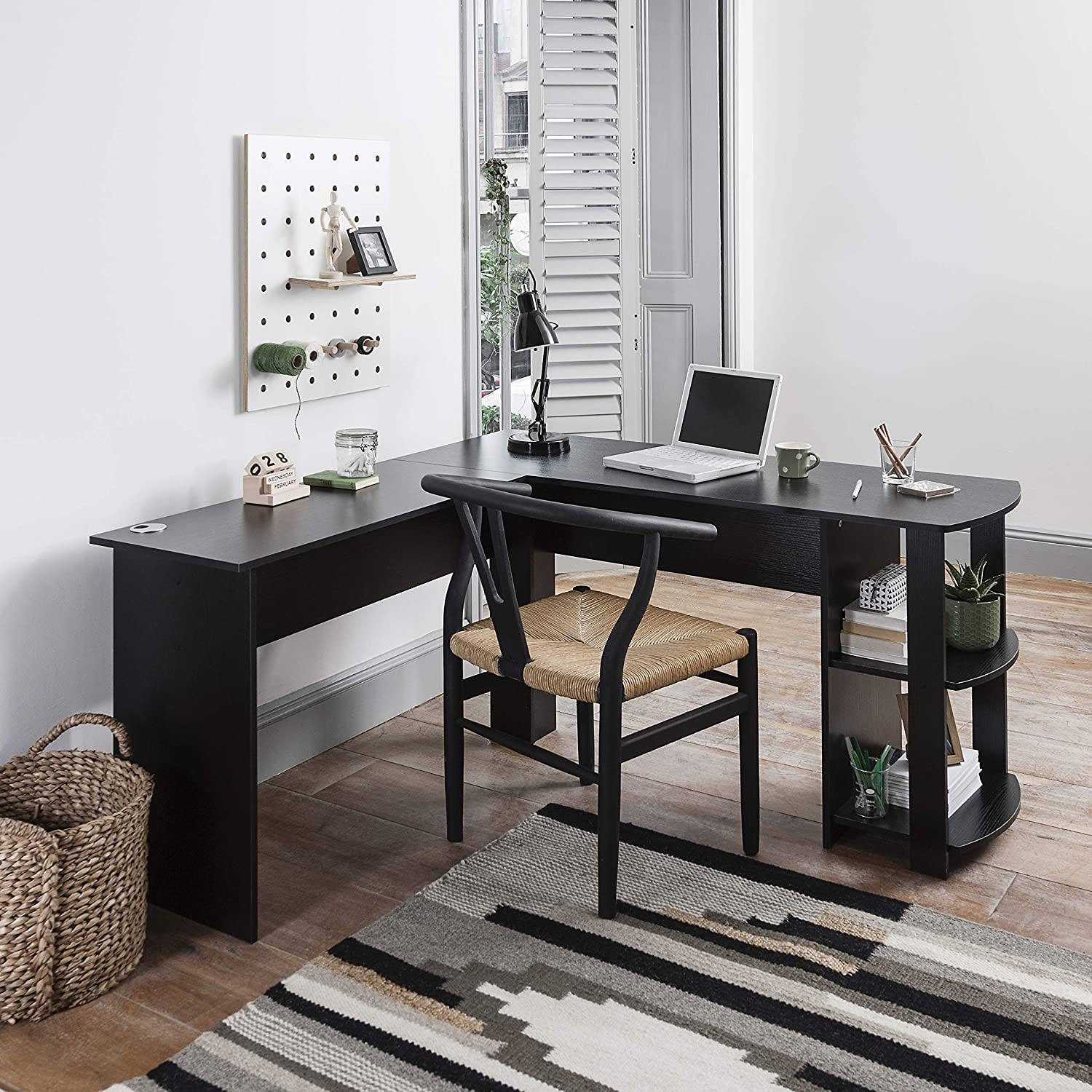 Laura James Black Corner Desk Computer Desk Home Office Desk