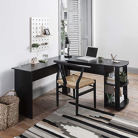 info for c0c72 92355 Laura James Black Corner Desk - Computer Desk - Home Office Desk