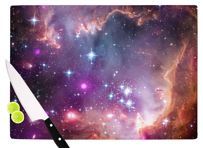 Multicolor KESS InHouse SC2170ACB01 Suzanne CarterCosmic Cloud Celestial Purple Cutting Board 11.5 x 8.25