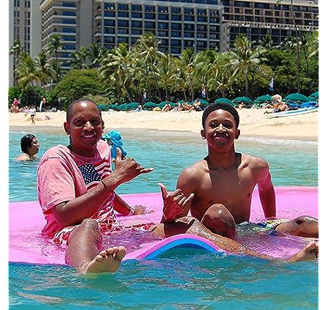 18x6FT Almohadilla de Espuma 360//590kg Flotante Relajaci/ón en la Piscina//Playa Flotante de Agua con Almohada de Bricolaje para Adultos y Ni/ños Moracle Colchoneta de Agua Flotante 12x6FT