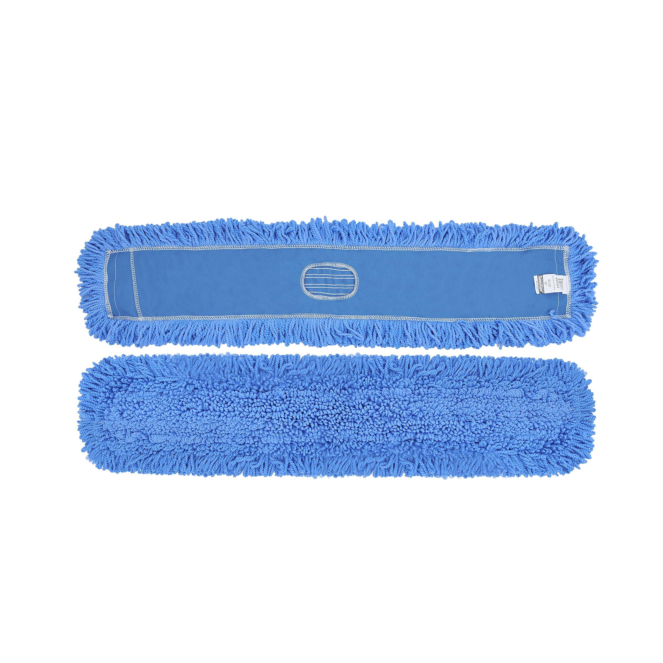 1doz. 48'' x 5'' SunnyCare #25482 Blue Microfiber Dust Mop 12pcs/Case by SunnyCare (Image #1)