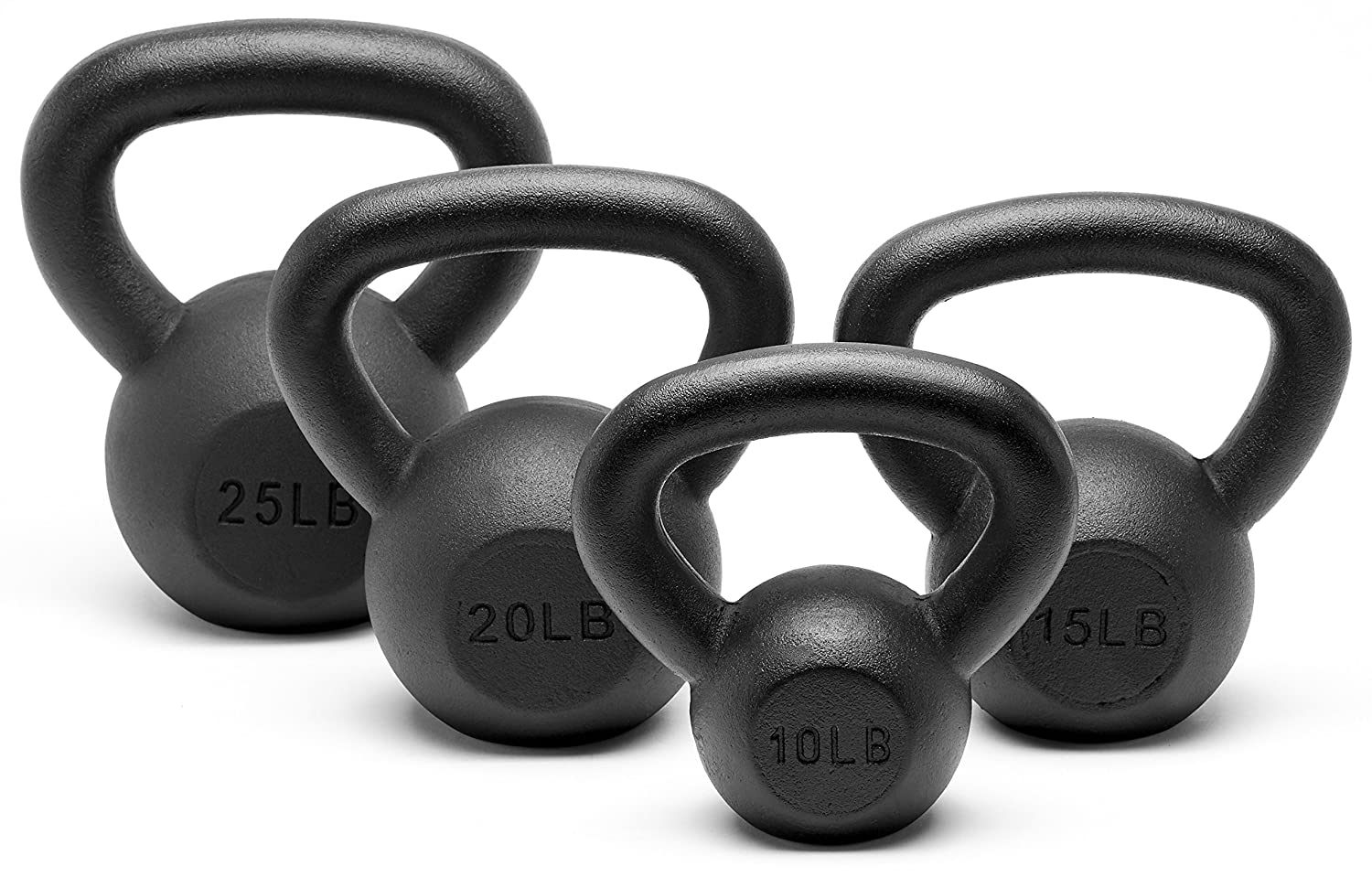 Unipack Powder Coated Solid Cast Iron Kettlebell Weights Set 5, 10 15, 20, 25, 30, 35, 40, 45 lbs All Combination