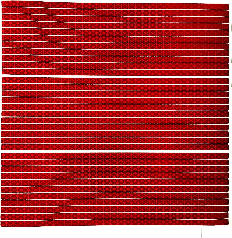 customTAYLOR33 Hohe Intensit/ät Reflektierendes Band Gerade Streifen Rot