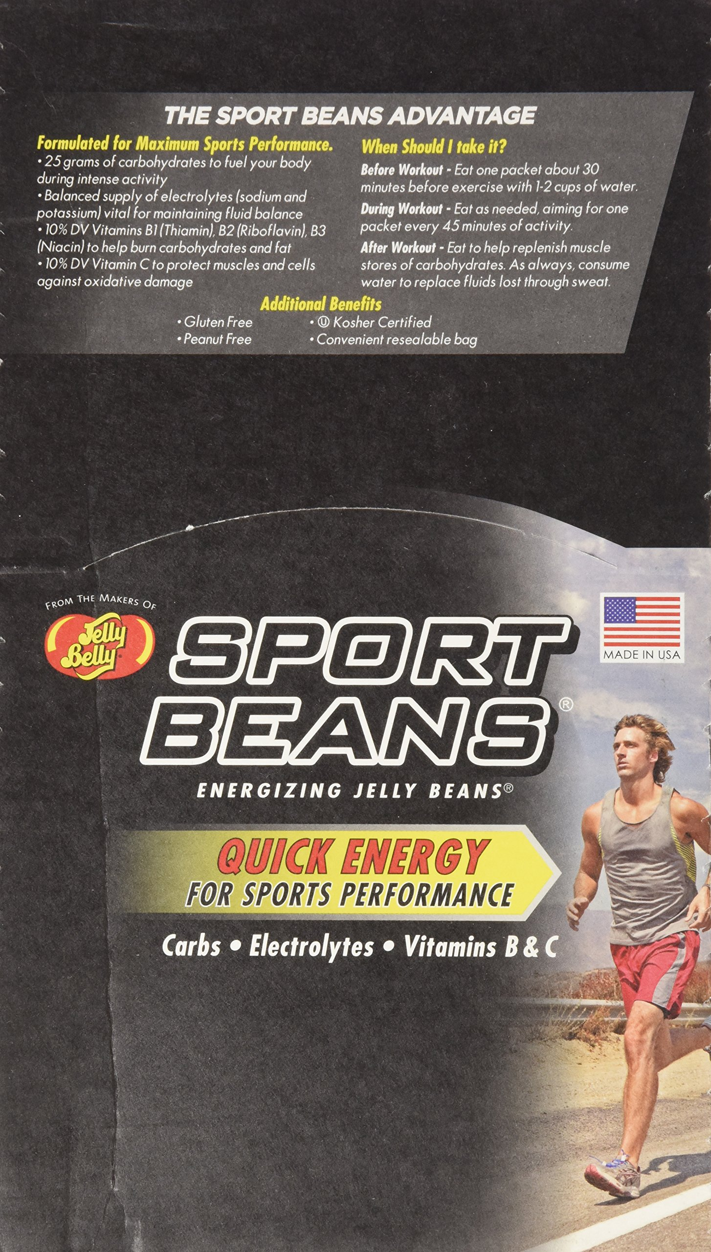 Jelly Belly Sports Beans Berry 1 Box/Case
