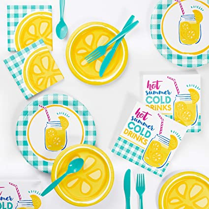 Lemonade Days Lunch Napkins 16 Pack Summer Birthday Party Decorations