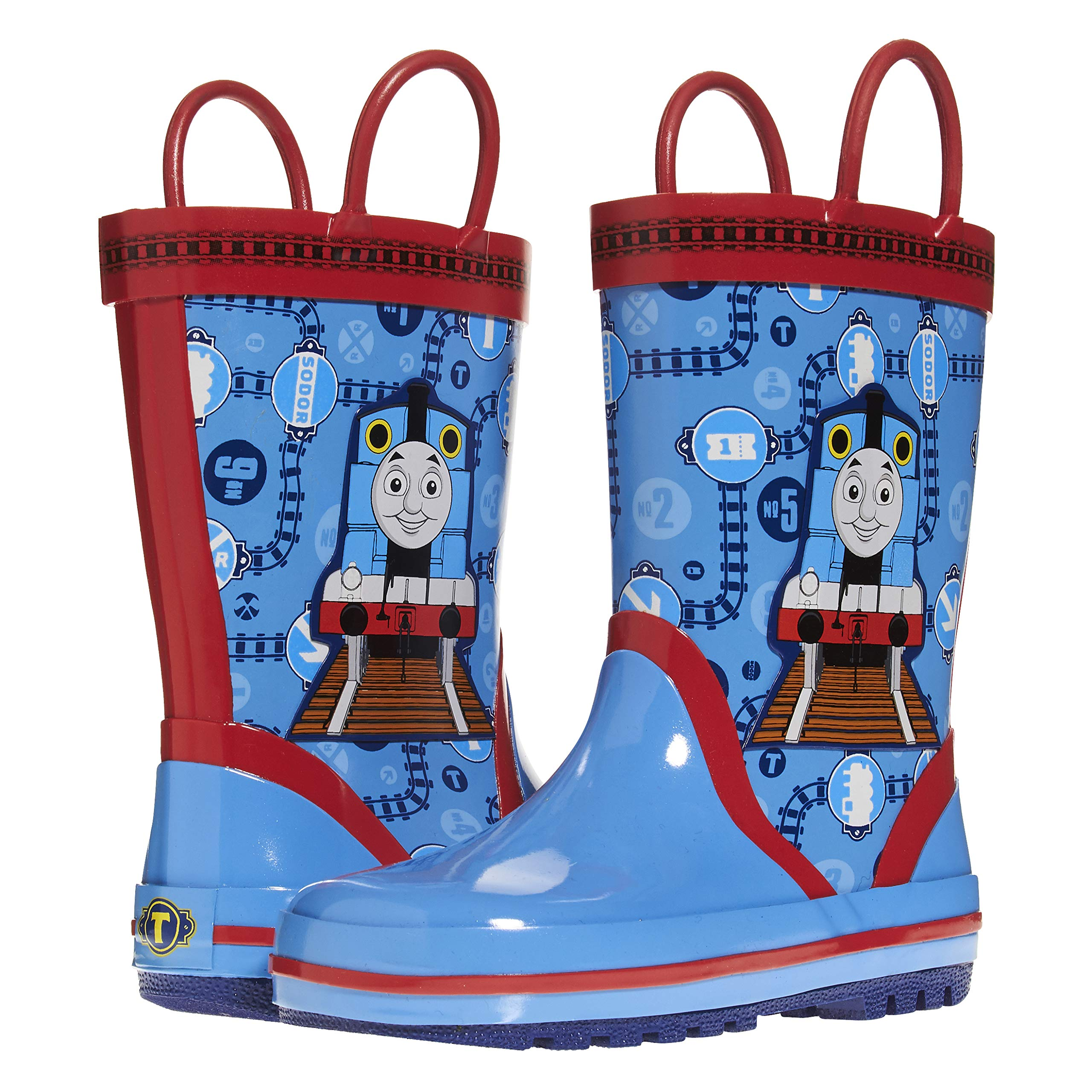 Thomas and Friends Kids Rain Boots with Rubber Sole; Boys Galoshes for Kids Blue