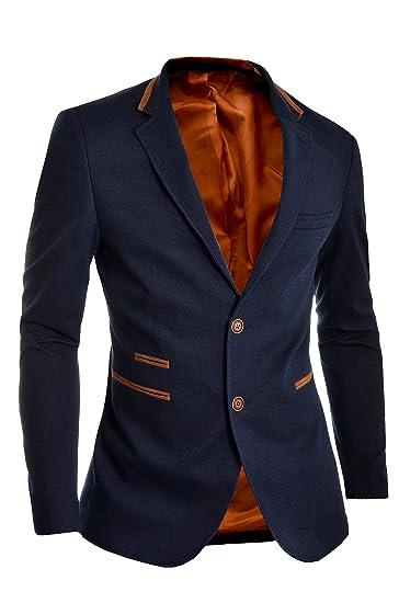 D&R FashionHerren Sakko, Einfarbig Blau Navy blue S