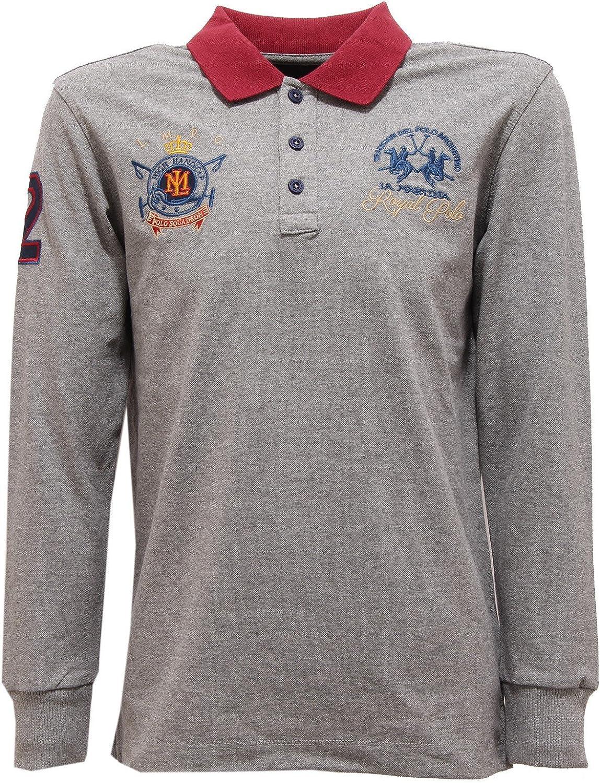 La Martina 2526V Polo Bimbo Junior Grey Polo t-Shirt Boy Kid [10 ...