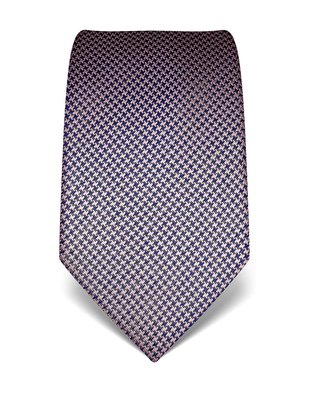 idrorepellente e antisporco 8 cm x 15 cm di pura seta di alta qualit/à Vincenzo Boretti cravatta elegante classica da uomo motivo pied-de-poule