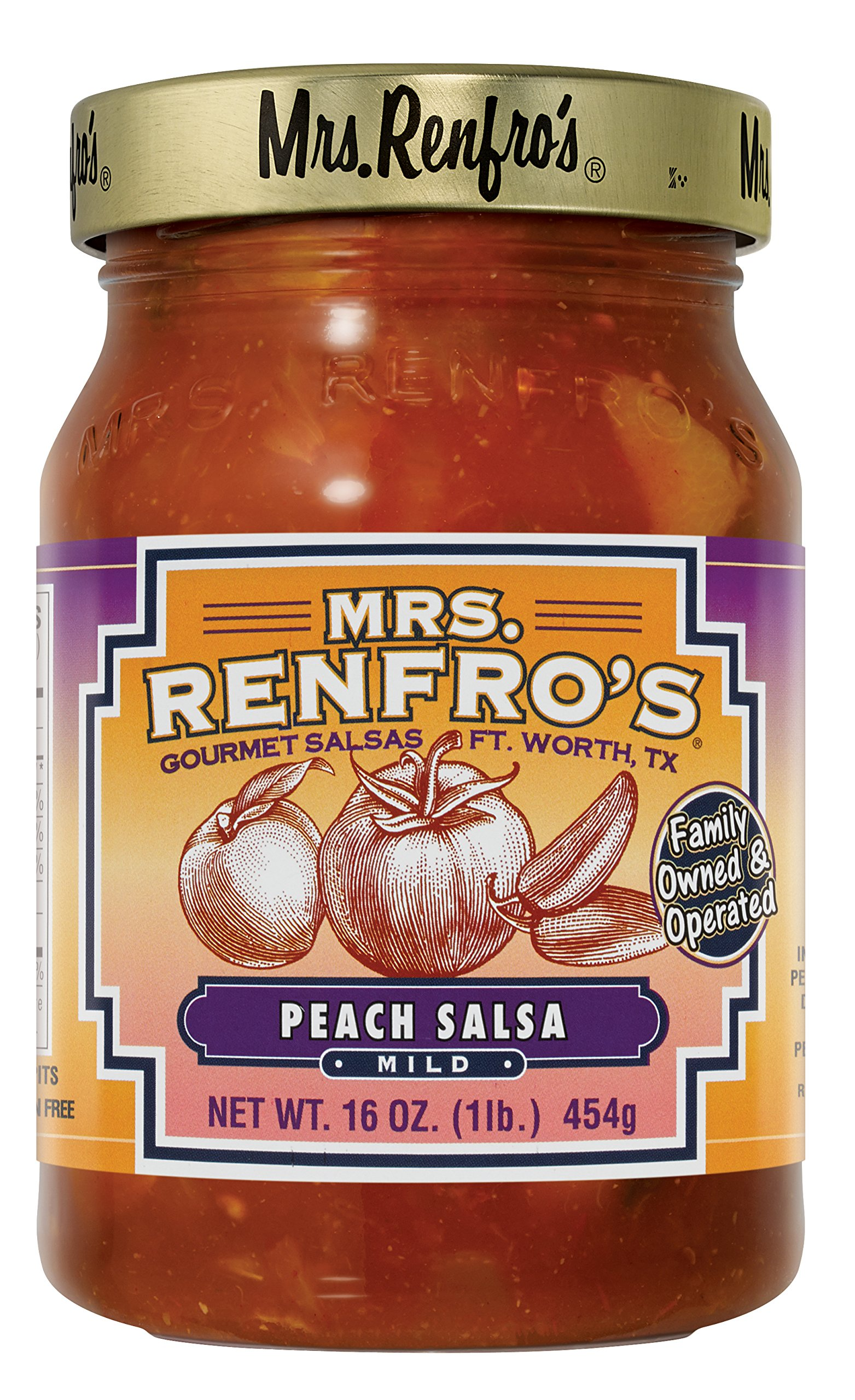 Mrs. Renfros Peach Salsa - 2jar pack