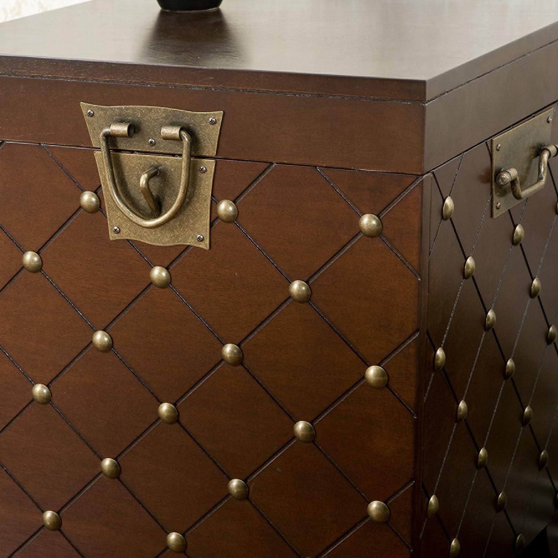 Amazon Southern Enterprises Nailhead End Table Storage Trunk