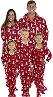 SleepytimePjs Family Matching Cranberry Deer Onesie PJs Footed Pajamas