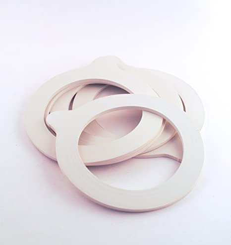 White (Ivory) Rubber Replacement Sealing Rings/Gaskets For Kilner And Clip  Lid Jars