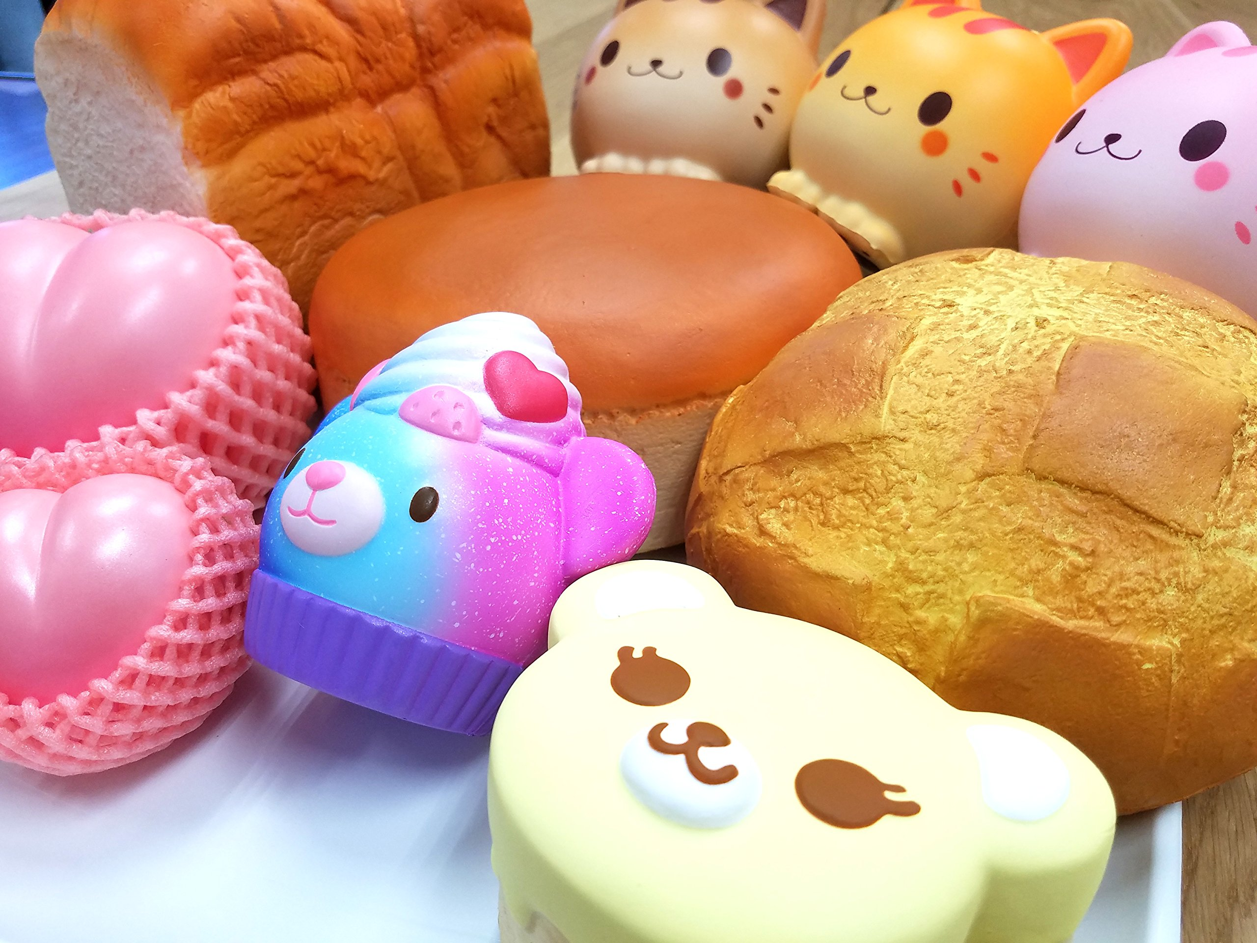 ibloom ''Slow Rising [Squishy Collection] Pain du Matin Chocolate [Scented] Jumbo Bread Loaf Squishy Kids Cute Adorable Doll Stress Relief Toy Decorative Props