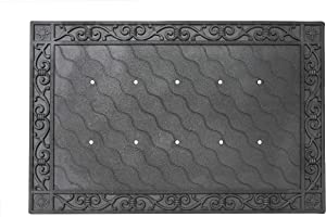 Toland Home Garden 850100 Recycled Rubber Holder Doormat Tray, 24