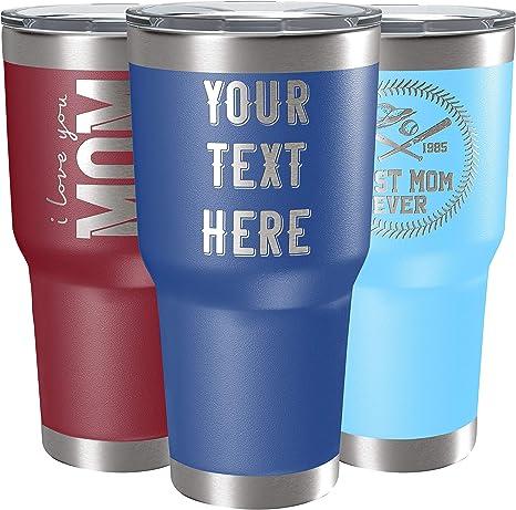 Personalised  Blue Travel Mug Male Gift