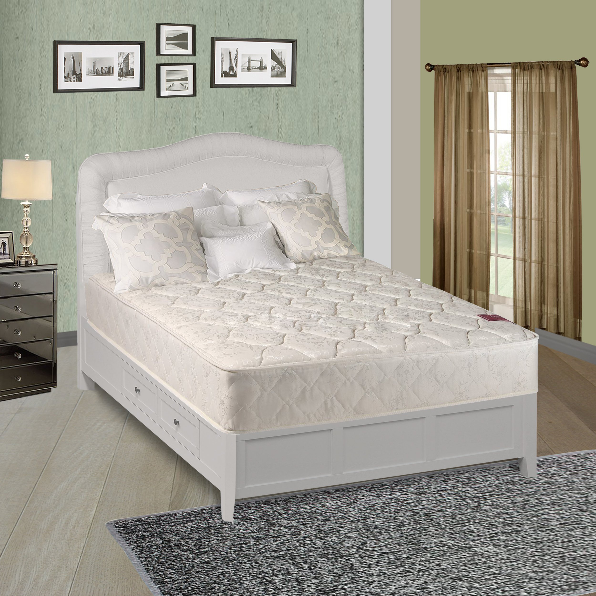 Spinal Solution, 4-inch Fully Assembled innerspring Mattress, Sensation Collection, Twin Size by Spinal Solution