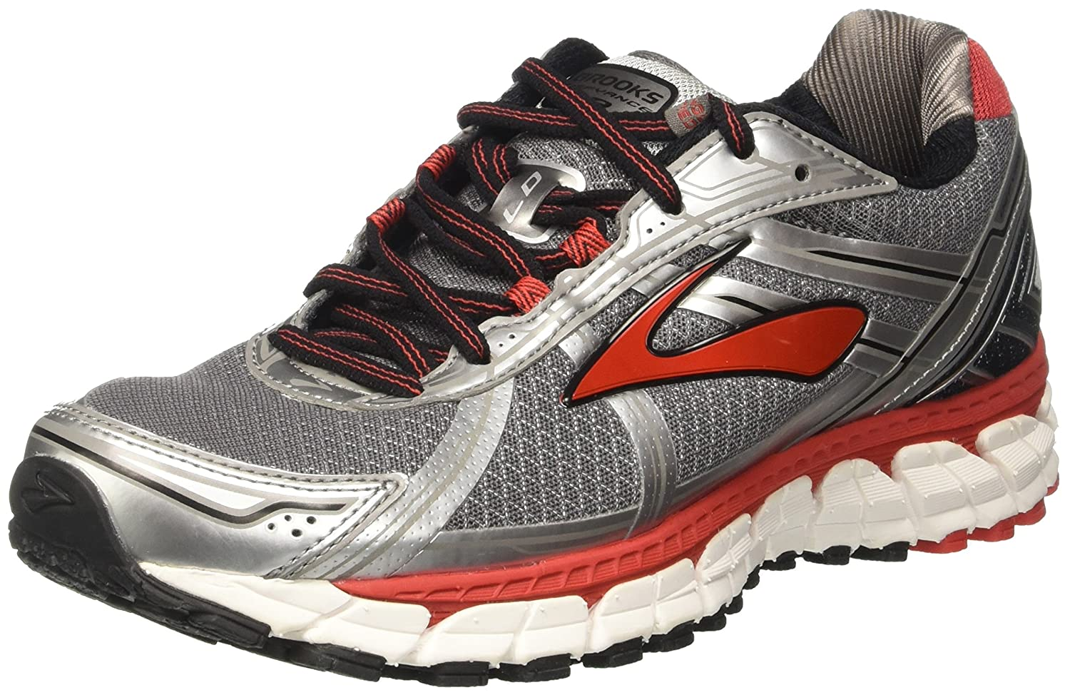 Brooks Defyance 9, Zapatos para Correr para Hombre 44 EU|Gris (Charcoal/Silver/High Risk Red)