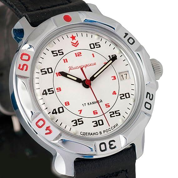 Vostok Komandirskie 811171/2414 Russian Comandante Militar mecánica reloj de muñeca: Amazon.es: Relojes