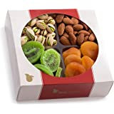 Nut Cravings Medium Dried Fruit and Nut Gift Basket – Mother's Day Gift Tray w/4 Different Dried Fruits & Nuts - Perfect Mothers & Fathers Day Gift Baskets Or For Any Occasion