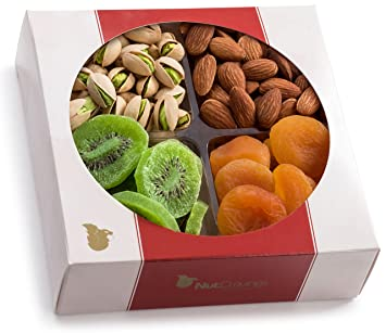 Nut Cravings Medium Dried Fruit and Nut Gift Platter - Father's Day Gift  Baskets w/4 Different Dried