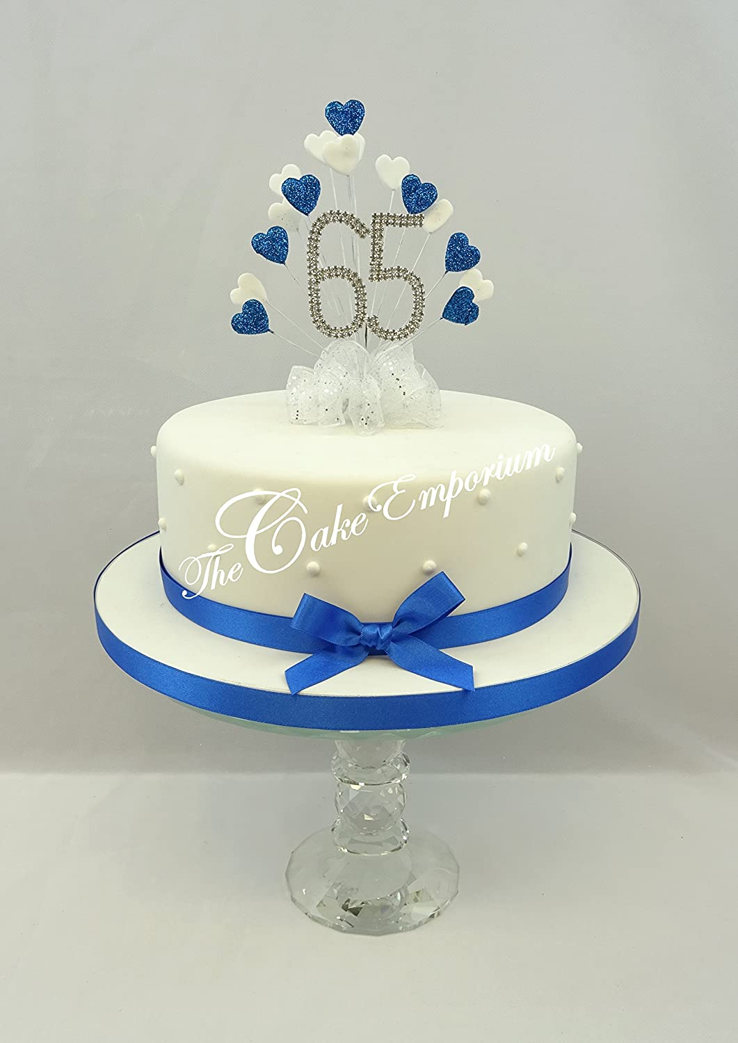 Fabulous Cake Decoration Sapphire 65Th Uk Wedding Anniversary Diamante Funny Birthday Cards Online Alyptdamsfinfo