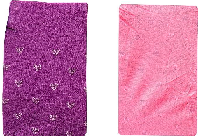 2 Pack Baby Girls Tights Purple Heart /& Pink Polka Dot Newborn to 18 Months