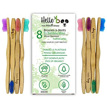 Cepillo De Dientes De Bambú Para Adultos Y Adolescentes | Juego De ...