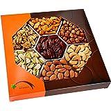 Nuts, Gift Baskets - Gourmet Food Baskets, Nuts Gift Basket - Mixed Nuts - Nut Baskets Gifts - 7 Sectional, Fruit Basket - Five Star Gift Baskets