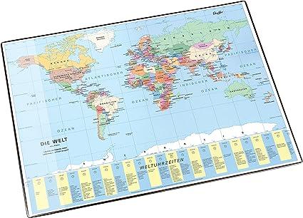 Cartina Mondo Politico.Laufer Sottomano Da Scrivania Con Cartina Geografica Mondo Politico 53 X 40 Cm Amazon It Cancelleria E Prodotti Per Ufficio