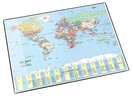 Läufer 45351 - Schreibunterlage Weltkarte 40x53cm