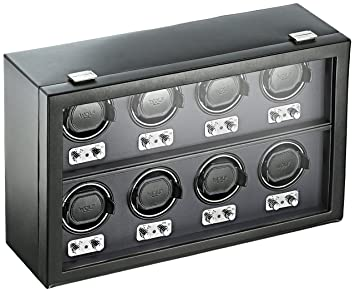 amazon com wolf 270802 heritage 8 piece watch winder with cover