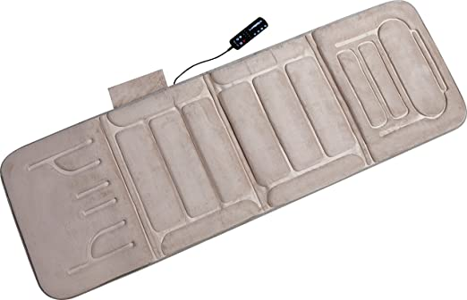 Relaxzen 60-2907P08 10-Motor Massage Standard Mat with Heat, Beige