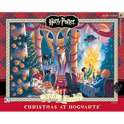 New York Puzzle Company - Harry Potter Christmas at Hogwarts - 500 Piece Jigsaw Puzzle: Toys & Games