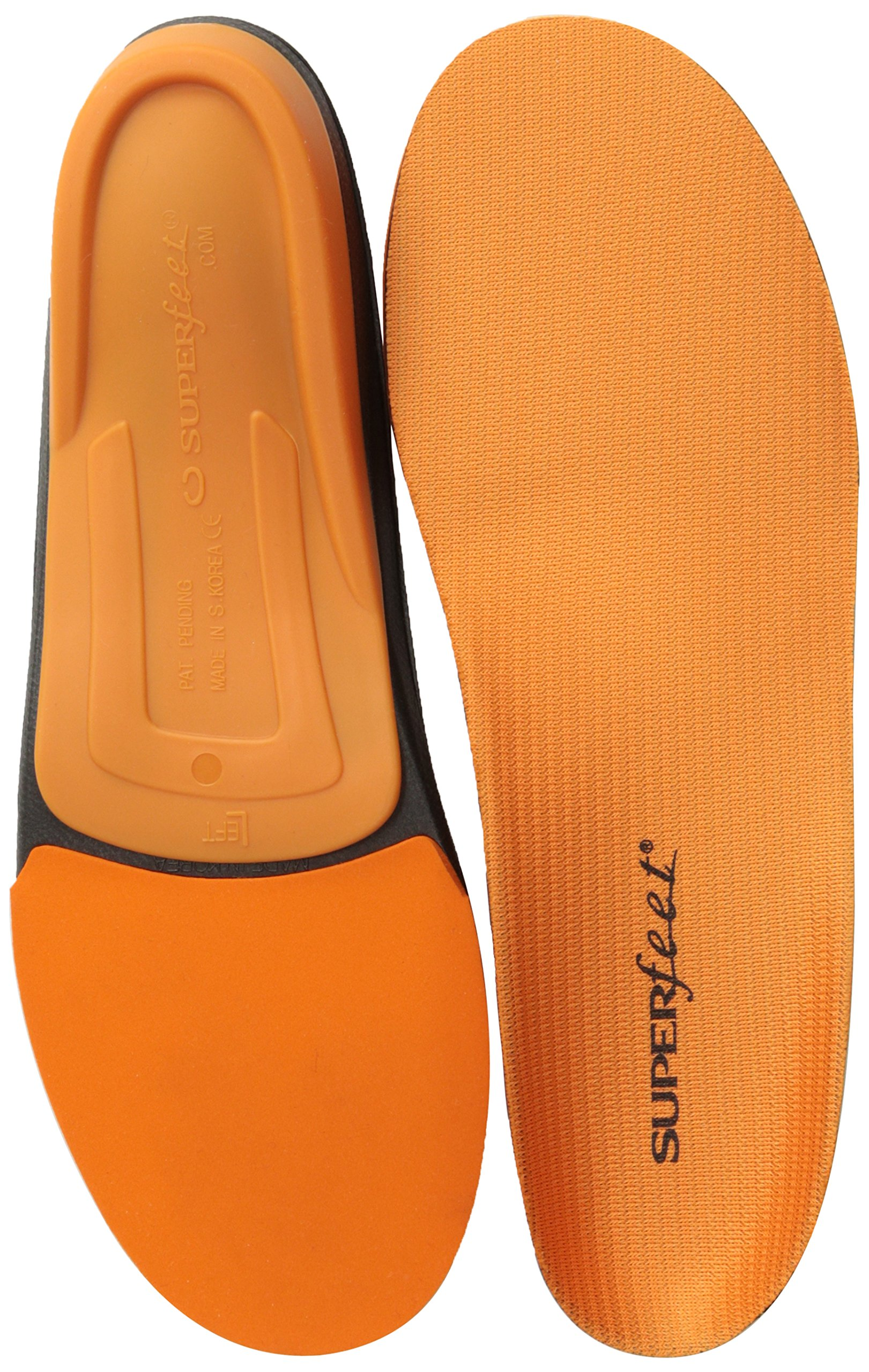 Superfeet Men's Orange Premium Insoles,Orange,D: 7.5 - 9 US Mens by Superfeet