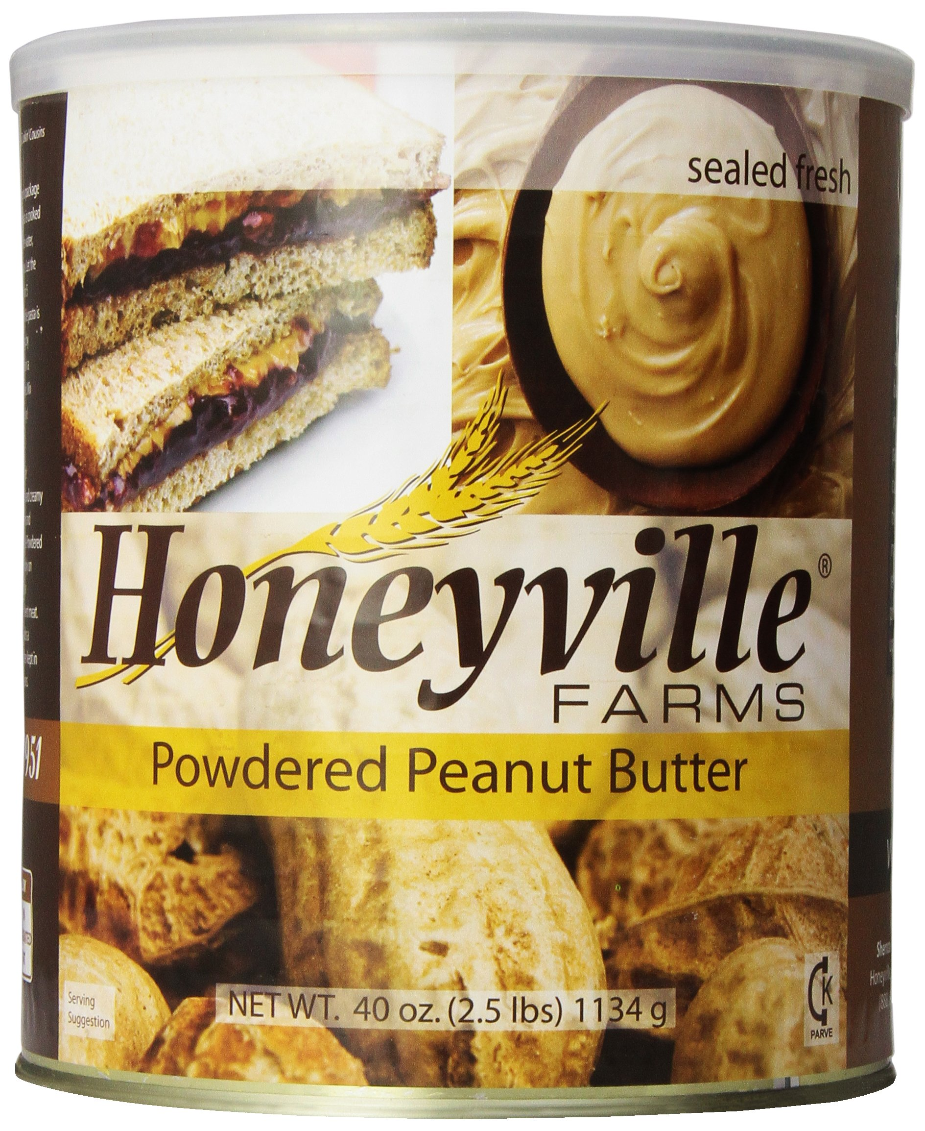 Powdered Peanut Butter- 2.5 Pound Can by Honeyville
