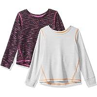 Amazon Essentials 2-Pack Long-Sleeve Active tee Niñas, Pack de 2