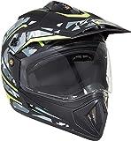 Vega Off Road D/V Camo Dull Black Yellow Helmet, M