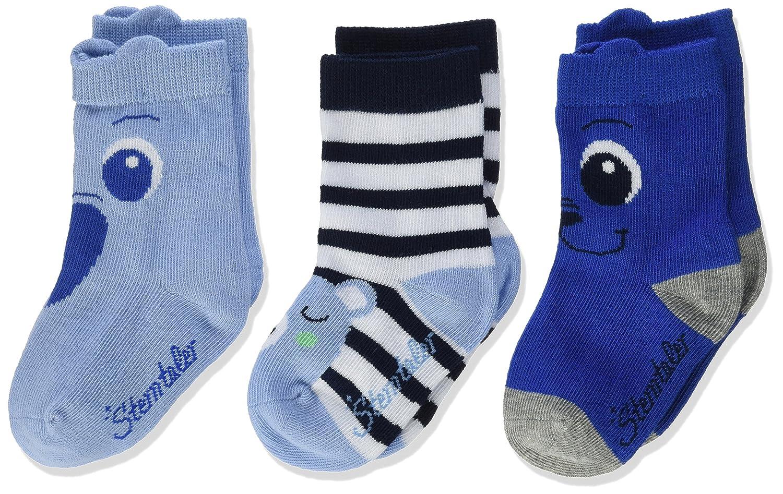 Sterntaler 8321822 himmel 3-er Set Jungen Socken lustige Tiere