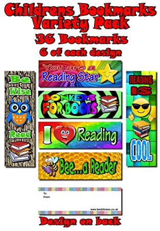 Christmas Bookmarks Book Reading School Party Bag Fillers Pack Size 6-48