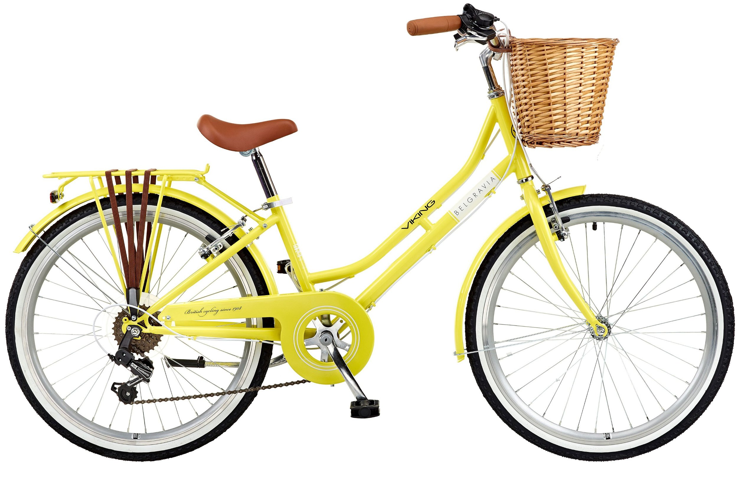 "Viking 2018 Belgravia Girls Traditional Heritage 24"" Wheel 6 Speed Bike Lemon"