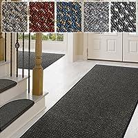 casa pura Teppich/Läufer in Zahlreichen Größen | Anthrazit, Gepunktet | Qualitätsprodukt aus Deutschland | Teppichläufer mit Gut Siegel | Küchenläufer, Flurläufer