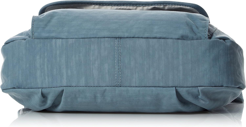 Kipling Syro, Sacs bandoulière Femme, multicolore, 31 x 22 x 12.5 cm Bleu (Dazz Soft Aloe)