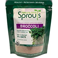 Nature Jim's Sprouts Broccoli Sprout Seeds - Certified Organic Broccoli Sprouting Seeds for Indoor/Outdoor Use - Rich in…