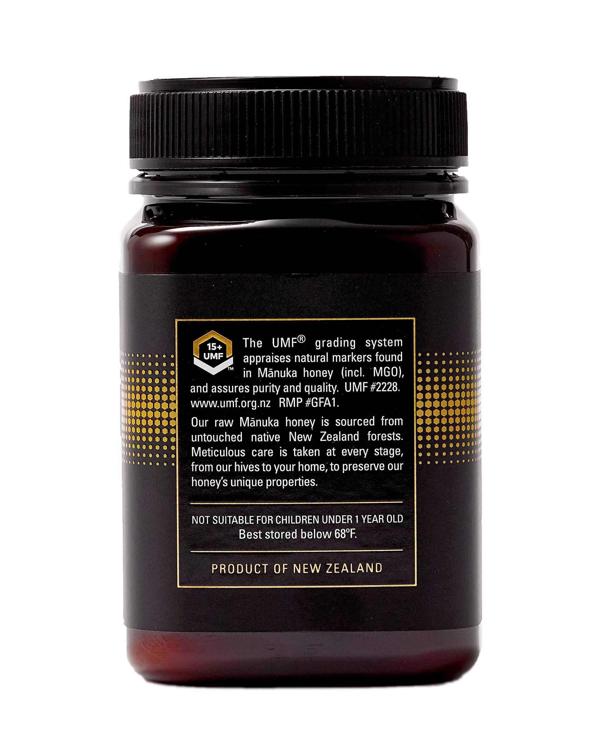 Manukora UMF 15+/MGO 500+ Raw Mānuka Honey (500g/1.1lb) Authentic Non-GMO New Zealand Honey, UMF & MGO Certified, Traceable from Hive to Hand by Manukora (Image #3)
